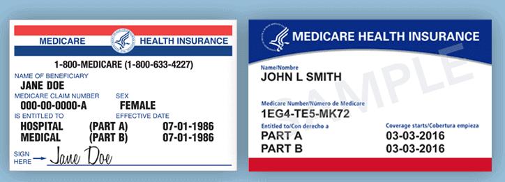 Medicare Card 2019 versus 2020